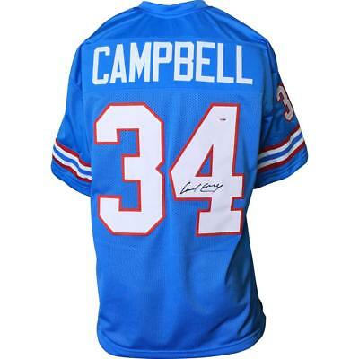 ec5eb2da EARL CAMPBELL Signed/Auto Autographed JERSEY HOUSTON OILERS BLUE PSA/DNA