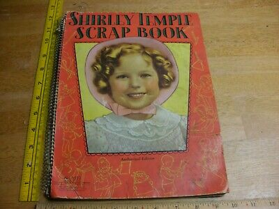 1936 Shirley Temple scrap book spiral with picture inside oversized blank