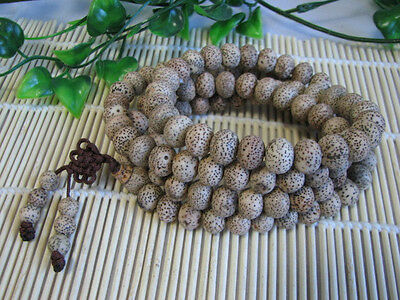Tibet 10mm old moon star Bodhi Buddhist Prayer Bead Mala Bracelet jade 108 piece