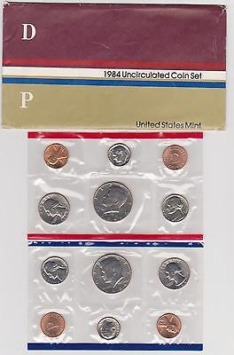 1984-P And D United States Mint Uncirculated 12-Coin Set