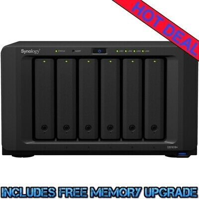 Synology DiskStation DS1618+ 20tb NAS Server 5x4000gb WD Blue Drives