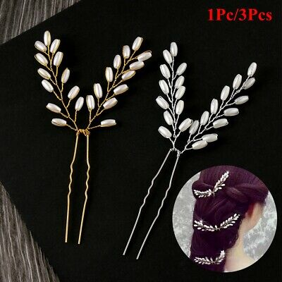 Fashion Pearl Bridal Hairpins Wedding Bridal Headpiece Hair Pin Bridal Headdress