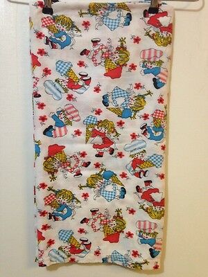Vintage Boys Girls and Ice Cream Cones Printe Thin Small Blanket 45x35.5