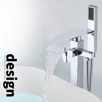 Clawfoot Tub Bathtub Faucet with Hand Shower Set Brushed Nickel Tub Filler Mixer
