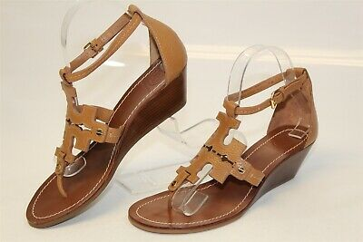 f85a8115f Tory Burch MISMATCH 7.5 8 M Womens Chandler NEW Leather Wedge Sandals Shoes
