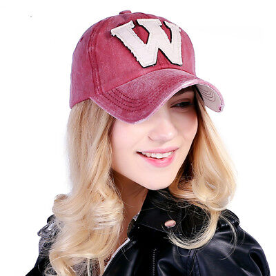 85b91966a8e0a Men Women Cotton Caps Embroidery Letter W Baseball Cap Fashion Snapback Hats