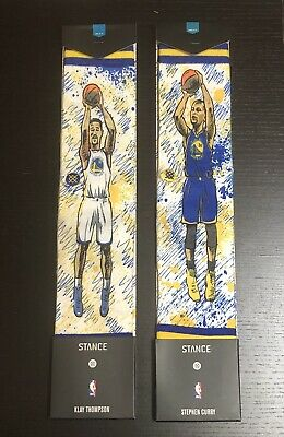 Stance Golden State Warriors TF Klay & TF Curry Men's Socks Size L 9-12 Lot Of 2