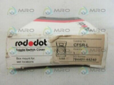 Red Dot Cfsr-L Toggle Switch Cover *New In Box*