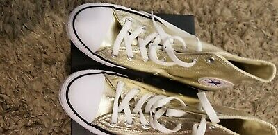 womens converse shoes size 8 Gold high tops
