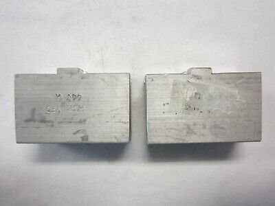 "Lot Of 2 H&R HR-447-A Aluminum 2-3/4"" X 1-1/4"" X 1-3/4"" Lathe Chuck Soft Jaw NEW"