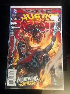 Justice League  #25 - Forever Evil - Nightwing Hunted By The Crime Syndicate