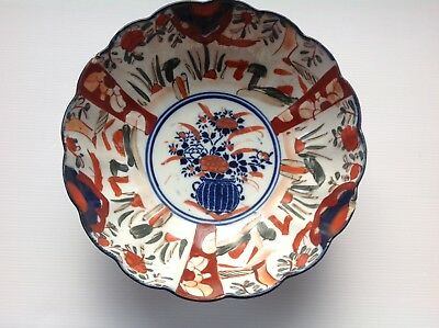 LARGE ANTIQUE IMARI BOWL DIAMETER 24.5cm                (134b)