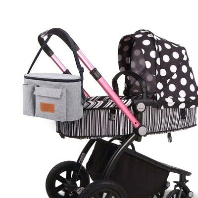 UK Stroller Bags Mummy Waterproof Hanging Carriage Pram Buggy Trolley Bottle Bag