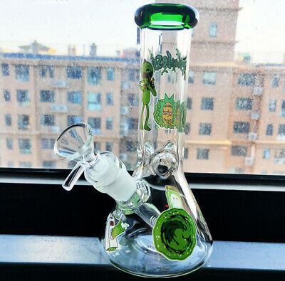 Hot Glass  Bong Smoking Glass Bongs Beaker Tobacco Water Pipe with without logo