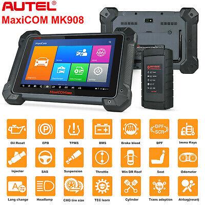 Autel MaxiCOM MK908 OBD2 Auto Diagnostic Code Reader Scanner Key Coding+MV108 US