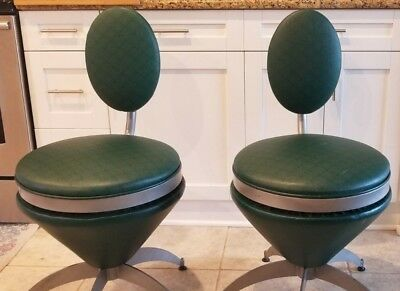 Vintage Mid-Century Atomic Space Age Cone Chairs Stools Vernor Panton style