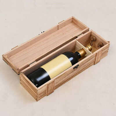 Wooden Wine Box Vintage Wooden Storage Case Gift Vintage Wooden Storage Case