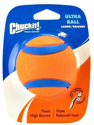 Chuckit Ultra Ball Large 7.3cm Durable Rubber High Bounce Tough Dog Fetch Toy