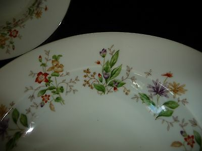 "#810 Norleans Meito China SPRING GARDEN 2 WIDE RIM  9"" R  SOUP / SERVING BOWLS"