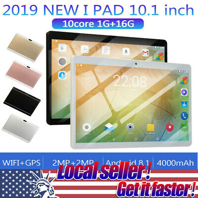 10.1Inch Tablet Android 8.1 1GB+ 16G Ten Octa-Core Dual SIM &Camera 3G Wifi P2
