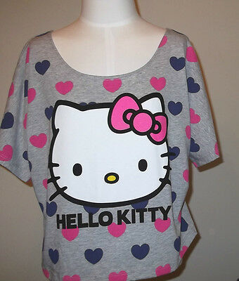 71ac72fd3 SEQUIN HELLO KITTY Solid Tank Top Shirt Color Charcoal Size Small to ...