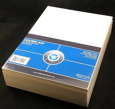 """200 CSP COLLECT*SAVE*PROTECT GOLDEN 7.625"""" Comic Bags AND GOLDEN 7.5"""" Boards"""