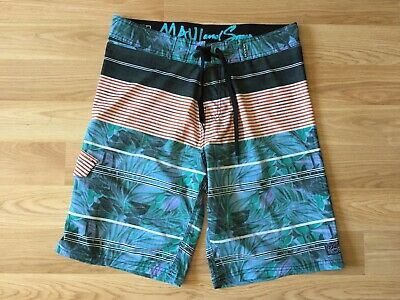 MAUI and Sons Men's Black Shark 4 Way Stretch Board Shorts Size 30 RIPTIDE NWT