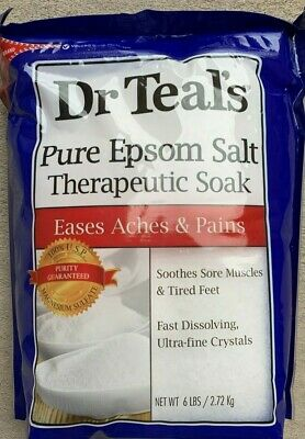 Dr Teal's Epsom Salt | Eases Aches Pain & Sore Muscles | Magnesium Sulfate 96 oz