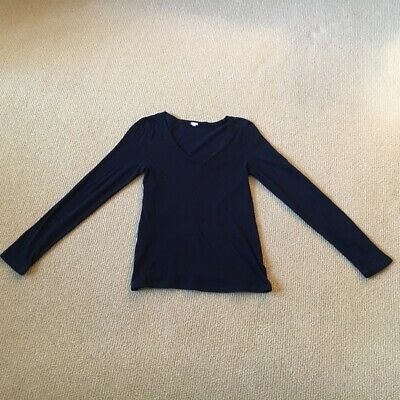 Women's J. Crew Navy Long Sleeve Shirt, Size Medium Gently Used