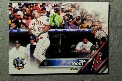 8a995adca 2016 TOPPS UPDATE Series MIKE TROUT BASEBALL CARD  US175 All-Star ...