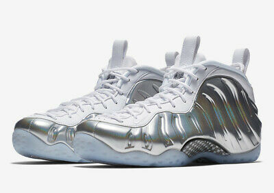 f06c6de7d3c9 2018 WMNS Nike Air Foamposite One SZ 8.5 White Chrome Blue Tint AA3963-100
