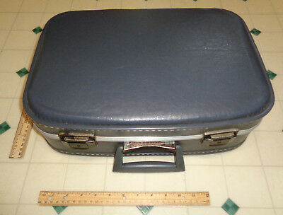 ~~Vintage small/mini blue Hard Case Train Suitcase Luggage carry-on ~~CUTE~~