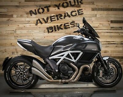 2014 DUCATI DIAVEL CARBON WHITE - 4k MILES FSH - HP CORSE EXHAUST - QUICKSHIFTER