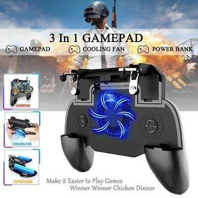 Mobile Game Controller Trigger Joystick Cooling Fan Gamepad for PUBG IOS Android