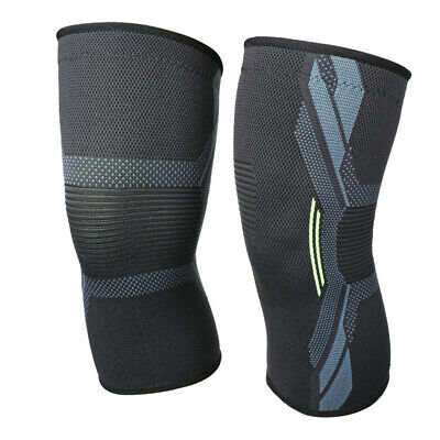 2x Knee Sleeve Compression Brace Support For Sport Arthritis Pain Relief S-XL