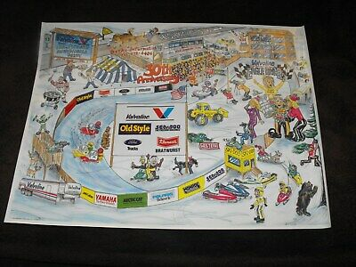 SNOWMOBILE RACE POSTER EAGLE River Derby Sign Banner Skidoo