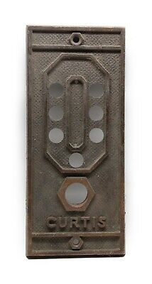 Antique Bronze Curtis Elevator Cover Plate