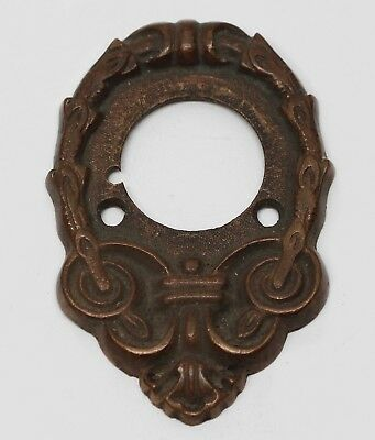 Antique Victorian Bronze Door Bell Plate