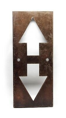 Salvaged Up & Down Arrow Elevator Cover Plate