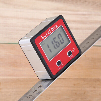 Angle Finder Gauge Meter Bevel Digital Inclinometer Spirit Level Box Protractor