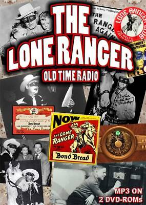 Lone Ranger Old Time Radio 913 episodes mp3 on 2 DVD-ROMS OTR boxed set