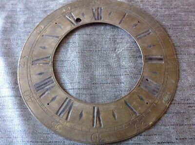 Antique Clock Brass Dial Face Chapter Ring 222mm Outer 126 Inner Diam.