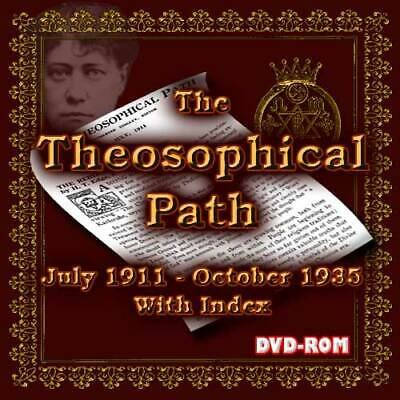 The Theosophical Path 1911-34 All Issues+ index on DVD-ROM