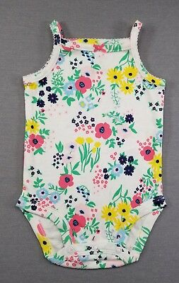 Nwot Carter's 3 Month Baby Girl Colorful Floral Bodysuit