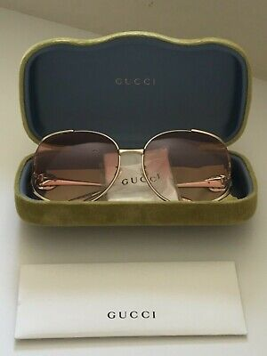 e670772180f0d GUCCI SUNGLASSES G logos Pink Black Woman Authentic Used G1233 ...