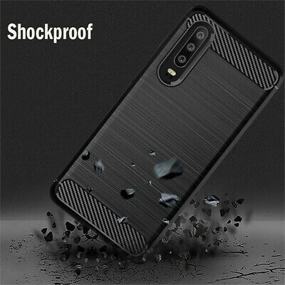 Anti-Scratch Carbon Fiber Soft TPU Case Cover For Huawei P30 P30 Pro P30 Lite