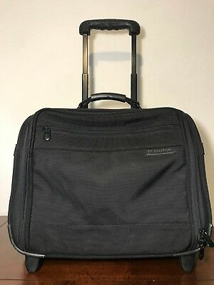 "Briggs & Riley 16"" Compact Nylon Briefcase Wheeled Rolling Black 03-BRW14"