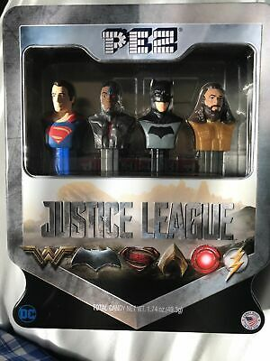 2017 Pez Justice League Pez Dispenser Set Superman Batman Aquaman