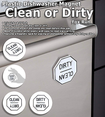 Clean Dirty Dishwasher Magnet Plastic Non Scratching Strong Housewarming Gifts