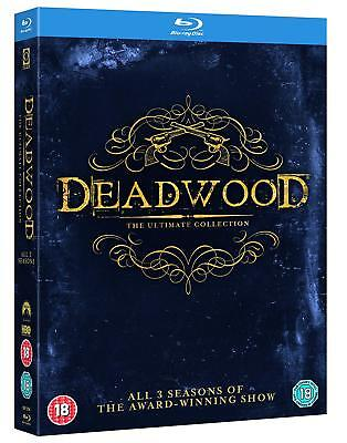 Deadwood - Complete Series (Blu-ray, HBO, 9 Discs, Region Free) *NEW/SEALED*